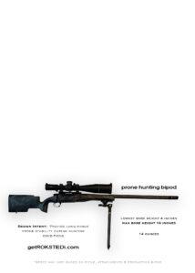 prone hunting bipod